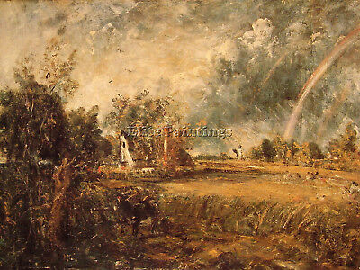 Cottage Rainbow Mill Artist Painting Reproduction Handmade Oil Canvas Repro Deco