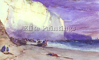 Bonington Richard Parkes Undercliff Artist Painting Oil Canvas Repro Art Deco