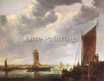 Cuyp Aelbert The Ferry Boat Artist Painting Reproduction Handmade Oil Canvas