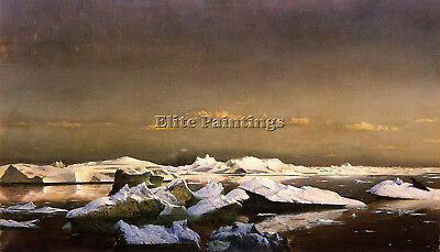 Bradford William Floe Ice Artist Painting Handmade Oil Canvas Repro Art Deco