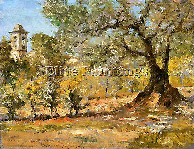 Chase William Merritt Olive Trees Florence Artist Painting Oil Canvas Repro Deco