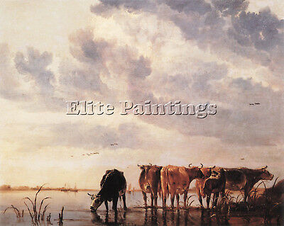 Cuyp 50Cows Artist Painting Reproduction Handmade Oil Canvas Repro Wall Art Deco