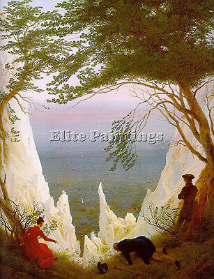 Chalk Cliffs On Rugen  Artist Painting Reproduction Handmade Oil Canvas Repro