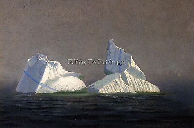 Bradford William Icebergs Artist Painting Handmade Oil Canvas Repro Art Deco