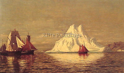 Ships And Iceberg Artist Painting Reproduction Handmade Canvas Repro Art Deco