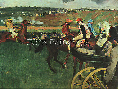 At The Races  Artist Painting Reproduction Handmade Oil Canvas Repro Art Deco