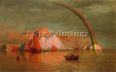 Bradford William Arctic Sunset Rainbow Artist Painting Oil Canvas Repro Art Deco