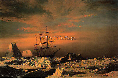 Bradford William Ice Dwellers Watching Invaders Artist Painting Oil Canvas Repro