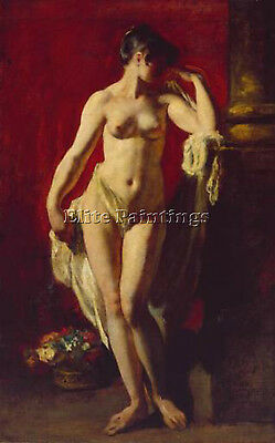 Etty William Standing Female Nude Artist Painting Oil Canvas Repro Wall Art Deco