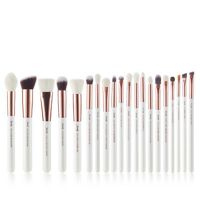 Jessup Make Up Brush Set Face Brow Eye Shadow Rose Gold 20Pcs Natural-Synthentic