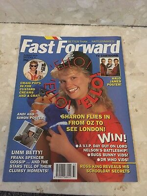 FAST FORWARD Magazine Issue 49 HALO JAMES Poster Vintage Retro 1990 August 15-21