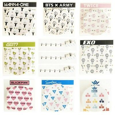 KPOP BTS Cute Tape TWICE GOT7 EXO WANNAONE SEVENTEEN BLACKPINK Washi Tape