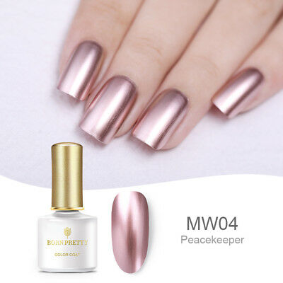 Rose Gold Metallic Mirror Soak Off UV Gel Nail Polish Manicure BORN PRETTY 6ml