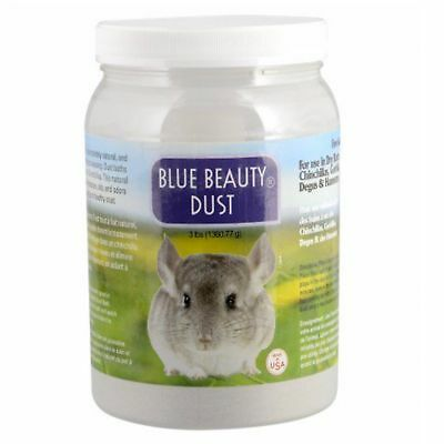 Lixit Blue Beauty Dust 3 lb | For Chinchilla Dry Bath | Fine Aluminum Silicate