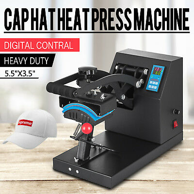 "7"" x 3.75"" Cap Hat Heat Press Transfer Sublimation Machine Steel Frame Digital"