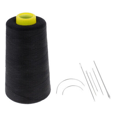 Practical Black Polyester Thread & Steel Needles Set for Hand/Machine Sewing