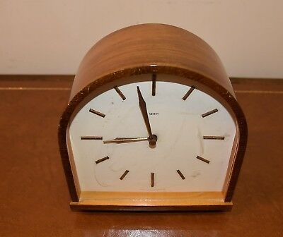 rare antique 1950's / 60s smiths mantle chiming clock. keeps accurate time