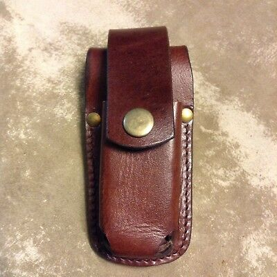 Leather Pouch For The Leatherman Wave brown