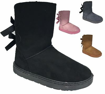 Womens Winter Boots Ladies Warm Fauxe Fur Lined Ankle Casual Shoes