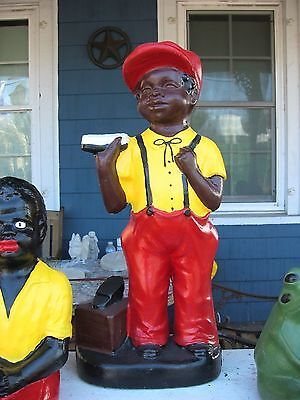Concrete  Black Shoeshine Boy Statue.model 2 .(Lawn Jockey Cousin) Yard Art