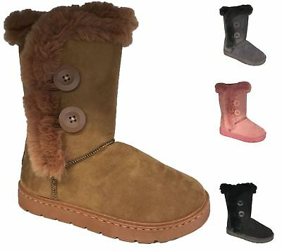 Womens Winter Boots Ladies Warm Fauxe Fur Lined Rubber sole Ankle Casual Shoes