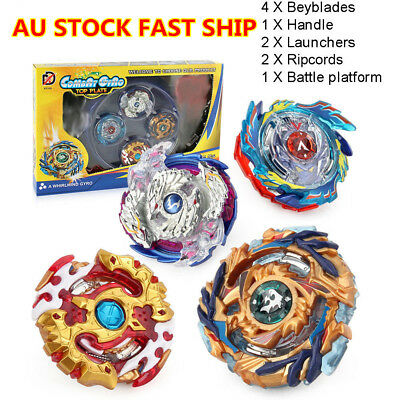 4X Beyblade SET Burst Stadium Arena W/ Launcher Battle Platform Birthday Gift AU