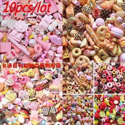 Miniature Play Toy For  Dolls Food Cake Biscuit Donuts Durable 10pcs/lot #