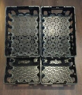 4 Coca Cola / Coke Plastic Crate Crates Drink Trays Lot of Four Black Gardening