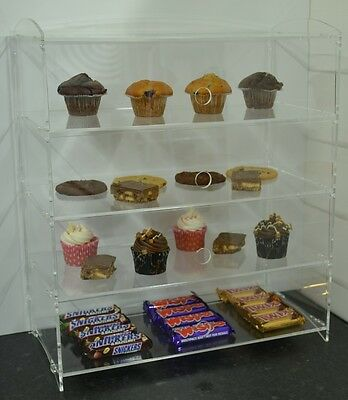 Cookie Bakery Pastry Display Case Stand Cabinet Cakes Donuts Cupcakes Pastries