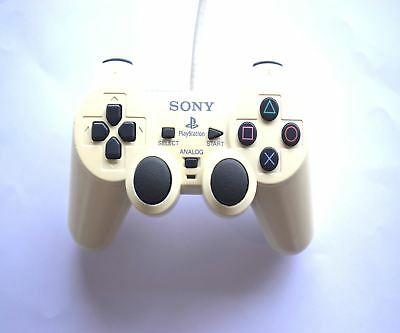 Official Original Genuine Sony PS2 Dual Shock 2 Wired Controller off White