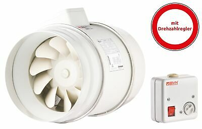 Pipe Fan Ø200mm Pipe Fan Exhaust Fan Double Adjustable + Regulator