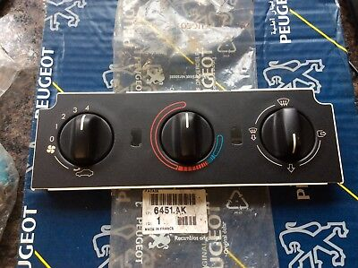 Genuine Peugeot 306 Mk1 Mk2 Heater Control Facia Panel 6451Ak New