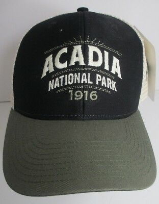 Acadia Hat Cap National Park Maine Trucker USA Embroidery Moose Unisex New f5a7a9ac1baf