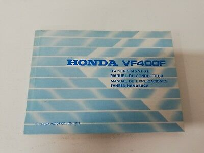 Libretto Manual uso manutenzione use maintenance Multilingua HONDA VF 400 F