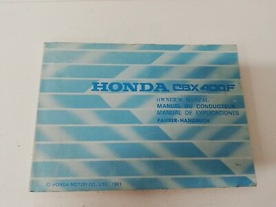 Libretto Manual uso manutenzione use maintenance Multilingua HONDA CBX 400 F