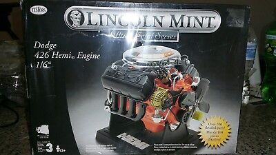 Scale Testors Lincoln Mint  Dodge Hemi 426 Engine Motor Model Kit  Rare