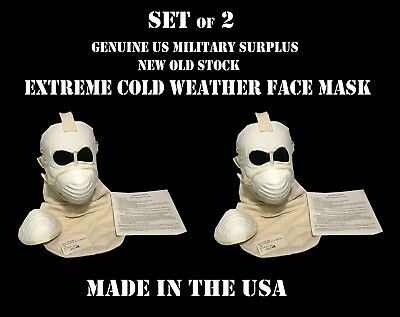 LOT of 2 USMC ARMY EXTREME COLD WEATHER FACE MASK & FILTERS US MILITARY SURPLUS