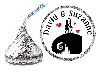 216 Nightmare Before Christmas Wedding Favors Hershey Kisses Kiss Labels