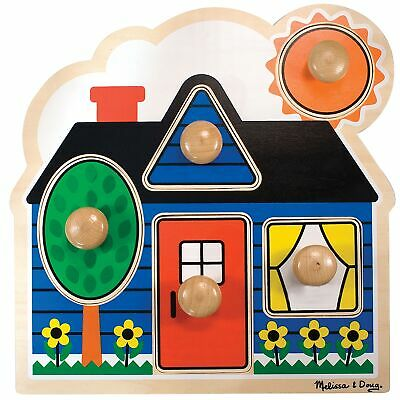 Melissa And Doug Baby / Kids / Childs Large Peg Puzzle First Shapes 12053