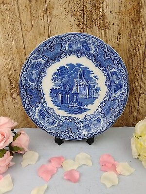 "1 x George Jones & Sons Abbey 1790 Cobalt Blue & white 10.5"" Dinner Plate"