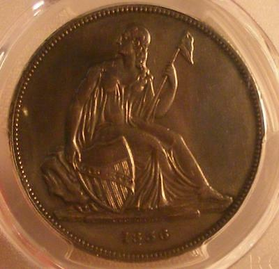 RARE 1836 Gobrecht Silver Dollar PCGS PR Genuine; Repaired; XF Detail; Original
