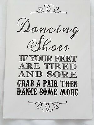 38cd9ca4c Wedding Purple Scrunch Sign For Flip Flop Basket. Dancing Shoes A4 Size on  Card