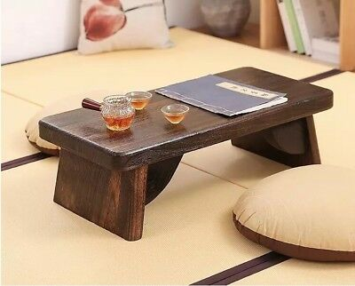 European Floor Tea Table Exotic Paulownia Wood Traditional Furniture Living Room
