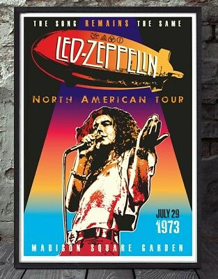 Led Zeppelin poster. Celebrating famous venues and gigs. Specially created.