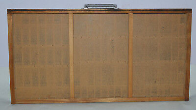 Vintage Printer's Type Tray/Drawer Shadow Box, full size case three compartment