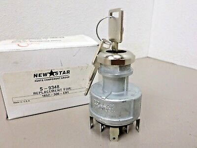 NewStar Keyed Ignition Switch S-9348 Replaces International PN 1652306C91