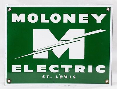 "Vintage Moloney Electric Transformer Specification Nameplate /Enamel Sign 12""x9"""
