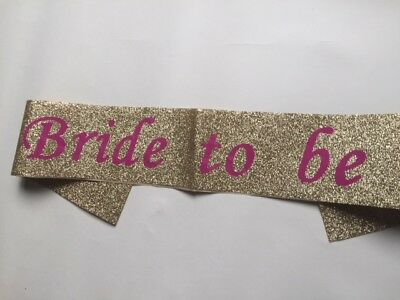Gold Silver Hot Pink Bulk Buy Lot Hen Party Team Bride Sash Girls Night Out Do