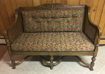 Antique Upholstered Settee / Love Seat / Bench ~ Excellent Condition