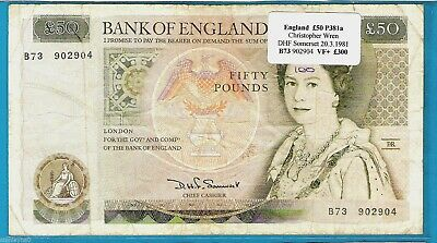 British Banknotes - £50,£20,£10 Somerset,Gill,Kentfield - Choose Your Note